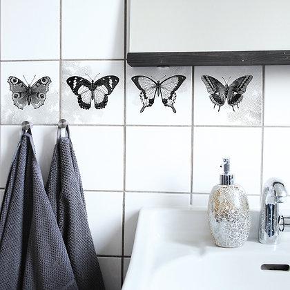 Papillons - Autocollant sticker pour carrelage - Marseille