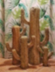 Cactus en paille tressée - fabrication artisanale d'Espagne - Disponible à Maseille et en livraison soignée