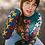 Joli pull tricoté pour femme couleur sapin et motifs étoiles - Marseille