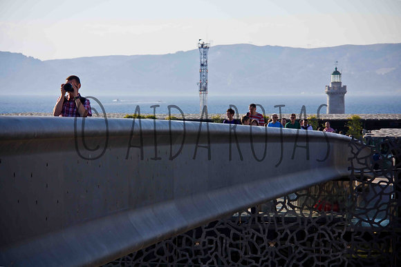 Photographie : Passerelle du Mucem  - Photo Marseille - Aida Rojas