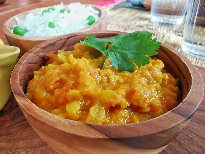Dhal lentille corail  - brunch veggie Inde - Marseille