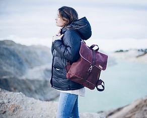 sac à dos vintage pour femme - Sac de ville à sangles - Marseille