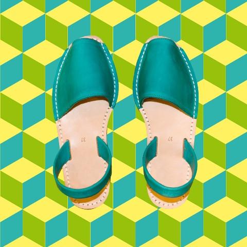 Avarcas Minorquines Turquoise Picasso
