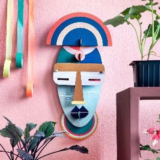 Masque decoration murale