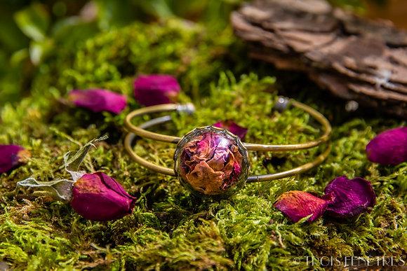 Bracelet fleurs de rose - Bijoux bohème - Bijoux Fleurs à Marseille