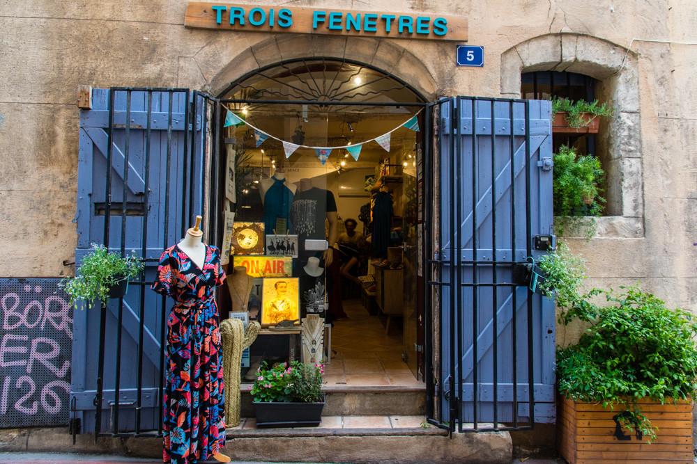 Vitrine Trois Fenêtres - Concept Store Marseille