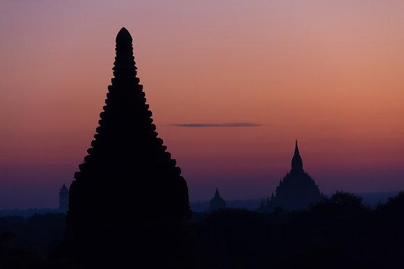 Photographie Stupas Bagan,  Birmanie - Trois Fenêtres