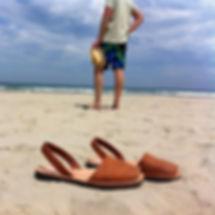 Sandales en cuir marrons pour homme - Avarcas minorquines - Marseille