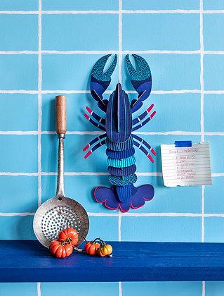 Déco image de homard bleu en puzzle 3D Studio Roof - Marseille