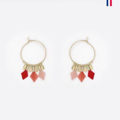 Boucles d oreilles plume Debra - Christelle dit Christensen - Marseille