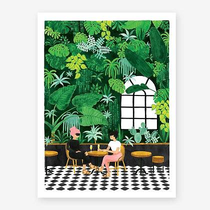 Affiche tendance Café en terrasse - Ambiance tropicale | Marseille