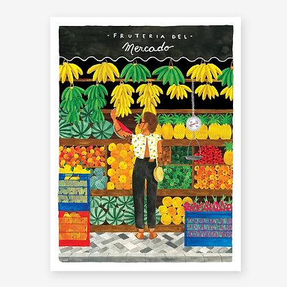 Affiche Marchand fruits et légumes - Fruteria - Marseille