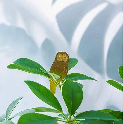 Déco plantes - Chouette en laiton à accrocher sur les plantes   Marseille