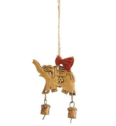 Éléphant avec clochette à suspendre .