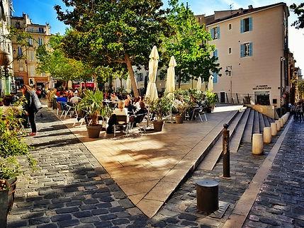 Place des pistoles au Panier Marseille