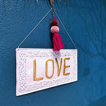 Plaque Love - Panneau Love - Trois Fenêtres - Marseille