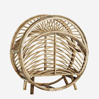 Porte revue vintage en bois de bambou - Style retro - Madam Stoltz Marseille