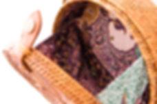 Bali round bag - interieur batik indonesien - livraison gratuite en France