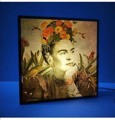 Boite à lumière Frida Kahlo - Cadeau pour fan de Frida - Marseille