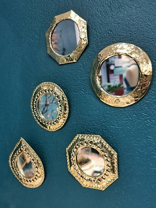 Miroir marocain en laiton - Miroir martelé du Maroc - Marseille
