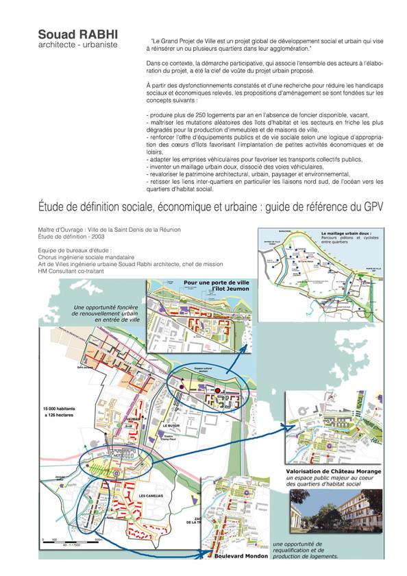 Etude d'urbanisme à l'Ile de la Réunion - Souad Rabhi architecte, urbaniste