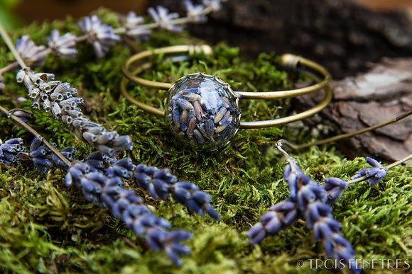 Bracelet fleurs de lavande provençale