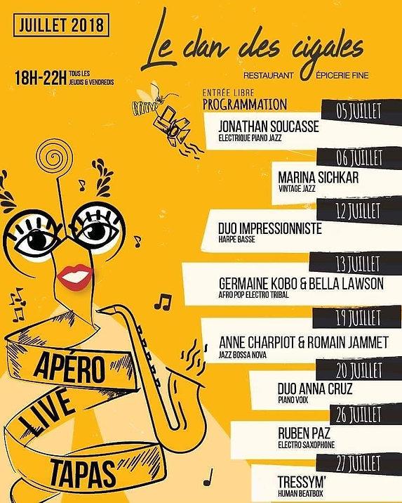 Boire l'apéro à Marseille - Concert tapas - Le Clan des Cigales au Panier