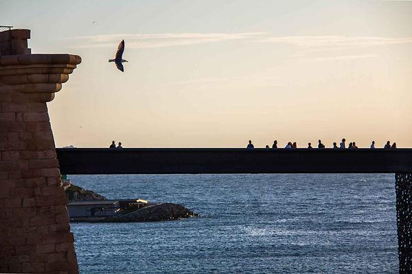 Passerelle du Mucem à Marseille