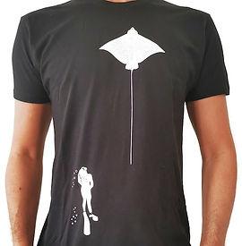 T shirt raie manta