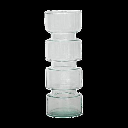Vase en verre forme geometrique tres originale - Vase retro en verre recyclé - Boutique deco Marseille