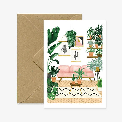Carte de voeux Salon tropical Sofa rose - All the way to say -  Marseille