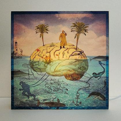 Lampe l'ile mystérieuse - Décor de 20000 lieues sous les mers - Jules Verne