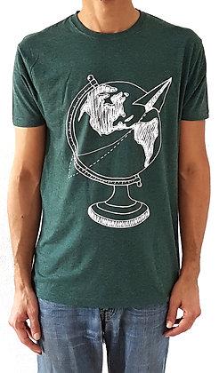 Tee shirt globe trotter pour homme - Cadeau voyageur - Marseille