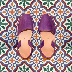 Avarcas Minorquines Violet Nubuck