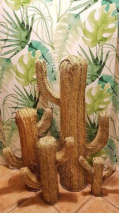 Cactus en paille tressée Alfa - 4 tailles de 35, 53, 75 et 105 cm