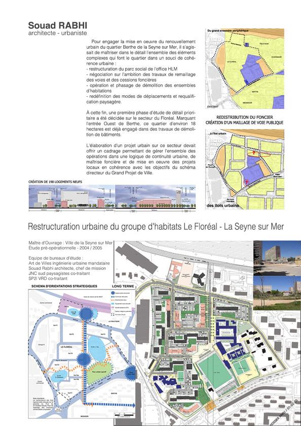 Restructuration d'habitat social en qualité d'urbaniste à la Seyne-sur-mer, Métropole Toulon dans le Var - Souad Rabhi, architecte, urbanisme