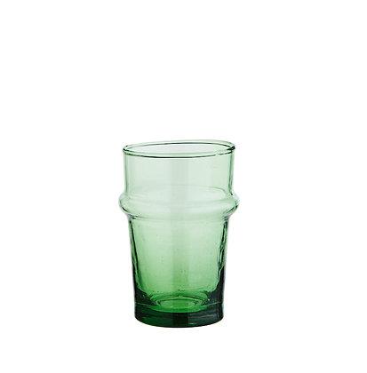 Verre à eau Beldi vert - Verre recyclé fabrication artisanale marocaine - Achat en ligne