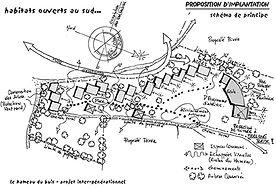 Habitat groupé - Ecohameau - Cosntruction écologique - Rabhi Architecte
