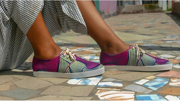 Baskets femme Zanzibar Panafrica - Imprimé africain wax -Marseille