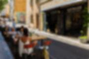 Terrasse extérieure Ahwash restaurant - Le Panier de Marseille