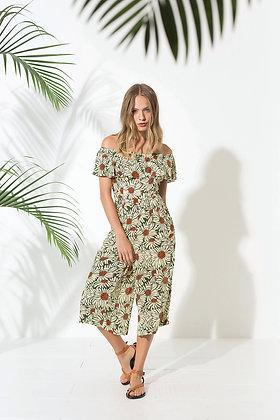 Combinaison hippie chic pour femmeaux motifs floraux, une combinaison pantalon champêtre - Marseille