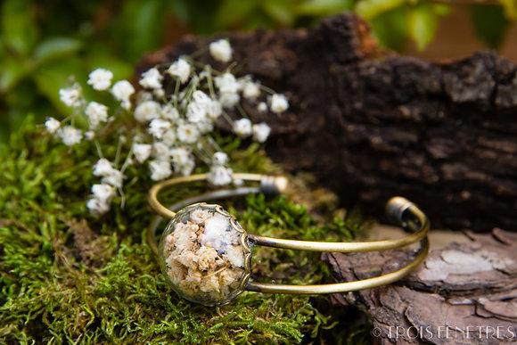 Bracelet fleurs de gypsophile
