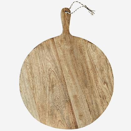 Planche à découper bois rustique ronde - Planche en bois ronde - Madam Stoltz