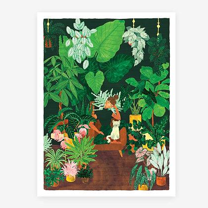 Affiche Plant addict - Déco pour fan de plantes tropicales - Marseille