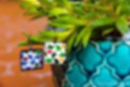 Boucles d'oreilles mosaïque - Concept Store Trois Fenêtres Marseille