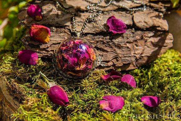 Pendentif fleurs de pétales de rose 20mm