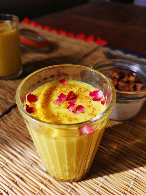 Golden milk du brunch Inde à Marseille