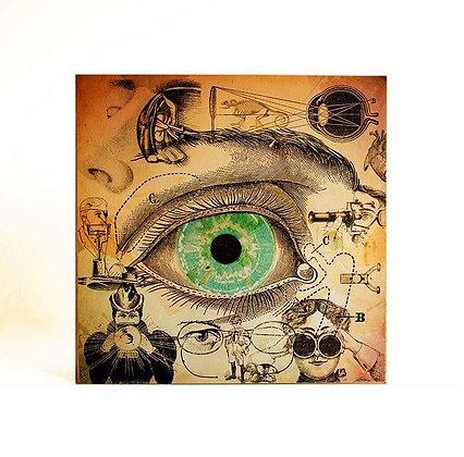 Anatomie de l'oeil - Décoration vintage - Steampunk - Cadeau pour medecin