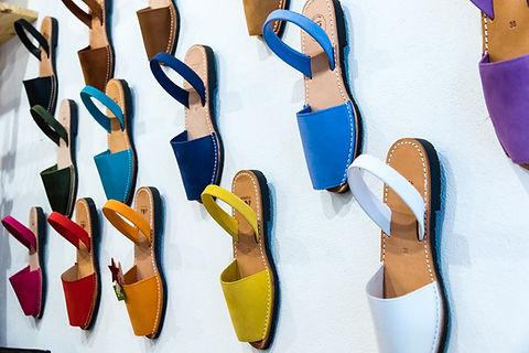Palette de sandales minorquines pour femme