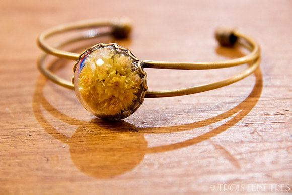 Bracelet fleurs d'Immortelles